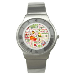 The Joys Of Christmas Stainless Steel Watch