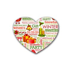 The Joys Of Christmas Heart Coaster (4 Pack)