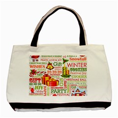 The Joys Of Christmas Basic Tote Bag (two Sides)