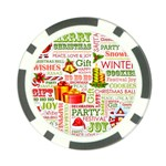 The Joys Of Christmas Poker Chip Card Guard Front