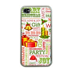 The Joys Of Christmas Apple Iphone 4 Case (clear)