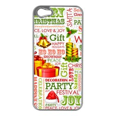 The Joys Of Christmas Apple Iphone 5 Case (silver)