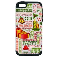 The Joys Of Christmas Apple Iphone 5 Hardshell Case (pc+silicone)