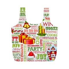 The Joys Of Christmas Full Print Recycle Bags (m)
