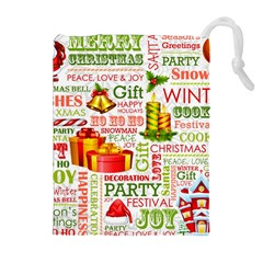The Joys Of Christmas Drawstring Pouches (extra Large)