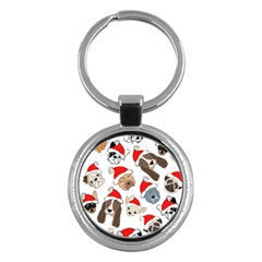 Christmas Puppies Key Chains (round)