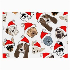 Christmas Puppies Large Glasses Cloth (2 Side)