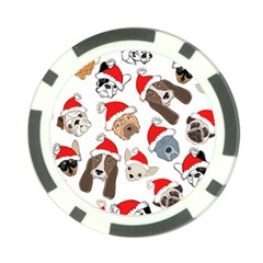 Christmas Puppies Poker Chip Card Guard