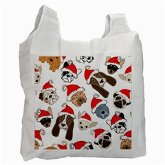 Christmas Puppies Recycle Bag (two Side)