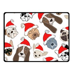 Christmas Puppies Fleece Blanket (small)