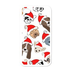 Christmas Puppies Apple Iphone 4 Case (white)