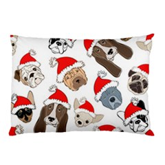 Christmas Puppies Pillow Case (two Sides)