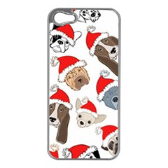 Christmas Puppies Apple Iphone 5 Case (silver)