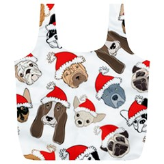 Christmas Puppies Full Print Recycle Bags (l)