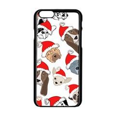 Christmas Puppies Apple Iphone 6/6s Black Enamel Case