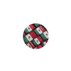 Mexican Flag Pattern Design 1  Mini Magnets