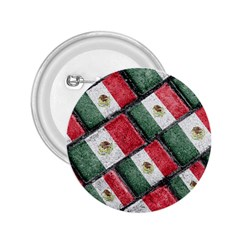 Mexican Flag Pattern Design 2 25  Buttons