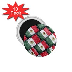 Mexican Flag Pattern Design 1 75  Magnets (10 Pack)