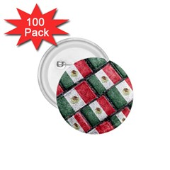 Mexican Flag Pattern Design 1 75  Buttons (100 Pack)