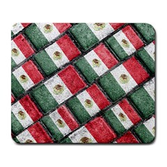 Mexican Flag Pattern Design Large Mousepads