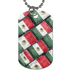 Mexican Flag Pattern Design Dog Tag (one Side)