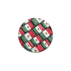 Mexican Flag Pattern Design Golf Ball Marker (10 Pack)
