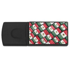Mexican Flag Pattern Design Rectangular Usb Flash Drive