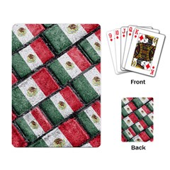 Mexican Flag Pattern Design Playing Card
