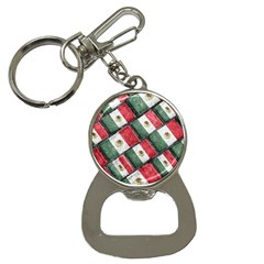 Mexican Flag Pattern Design Button Necklaces