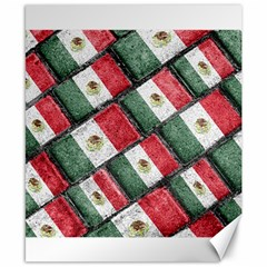 Mexican Flag Pattern Design Canvas 8  X 10