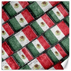 Mexican Flag Pattern Design Canvas 12  X 12