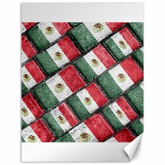 Mexican Flag Pattern Design Canvas 12  X 16