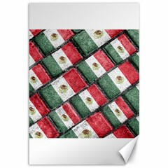 Mexican Flag Pattern Design Canvas 12  X 18
