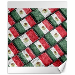 Mexican Flag Pattern Design Canvas 16  X 20