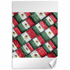 Mexican Flag Pattern Design Canvas 24  X 36
