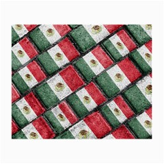 Mexican Flag Pattern Design Small Glasses Cloth (2 Side)