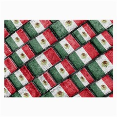 Mexican Flag Pattern Design Large Glasses Cloth (2 Side)