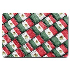 Mexican Flag Pattern Design Large Doormat