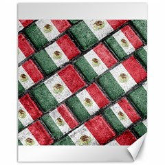 Mexican Flag Pattern Design Canvas 11  X 14