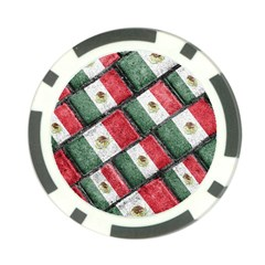 Mexican Flag Pattern Design Poker Chip Card Guard