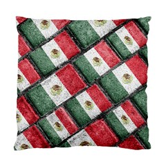 Mexican Flag Pattern Design Standard Cushion Case (two Sides)