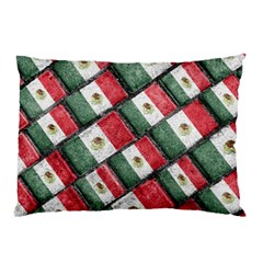 Mexican Flag Pattern Design Pillow Case