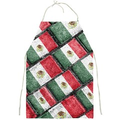 Mexican Flag Pattern Design Full Print Aprons