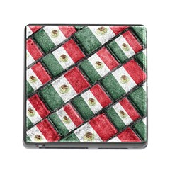 Mexican Flag Pattern Design Memory Card Reader (square)