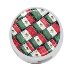 Mexican Flag Pattern Design 4 Port Usb Hub (one Side)