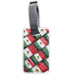 Mexican Flag Pattern Design Luggage Tags (one Side)