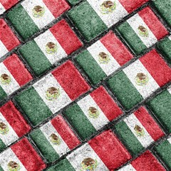 Mexican Flag Pattern Design Magic Photo Cubes