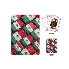 Mexican Flag Pattern Design Playing Cards (mini)