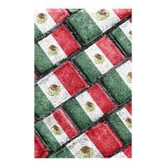 Mexican Flag Pattern Design Shower Curtain 48  X 72  (small)
