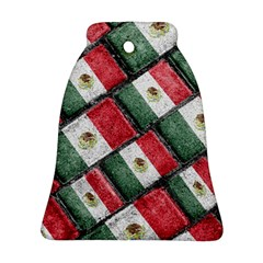 Mexican Flag Pattern Design Bell Ornament (two Sides)